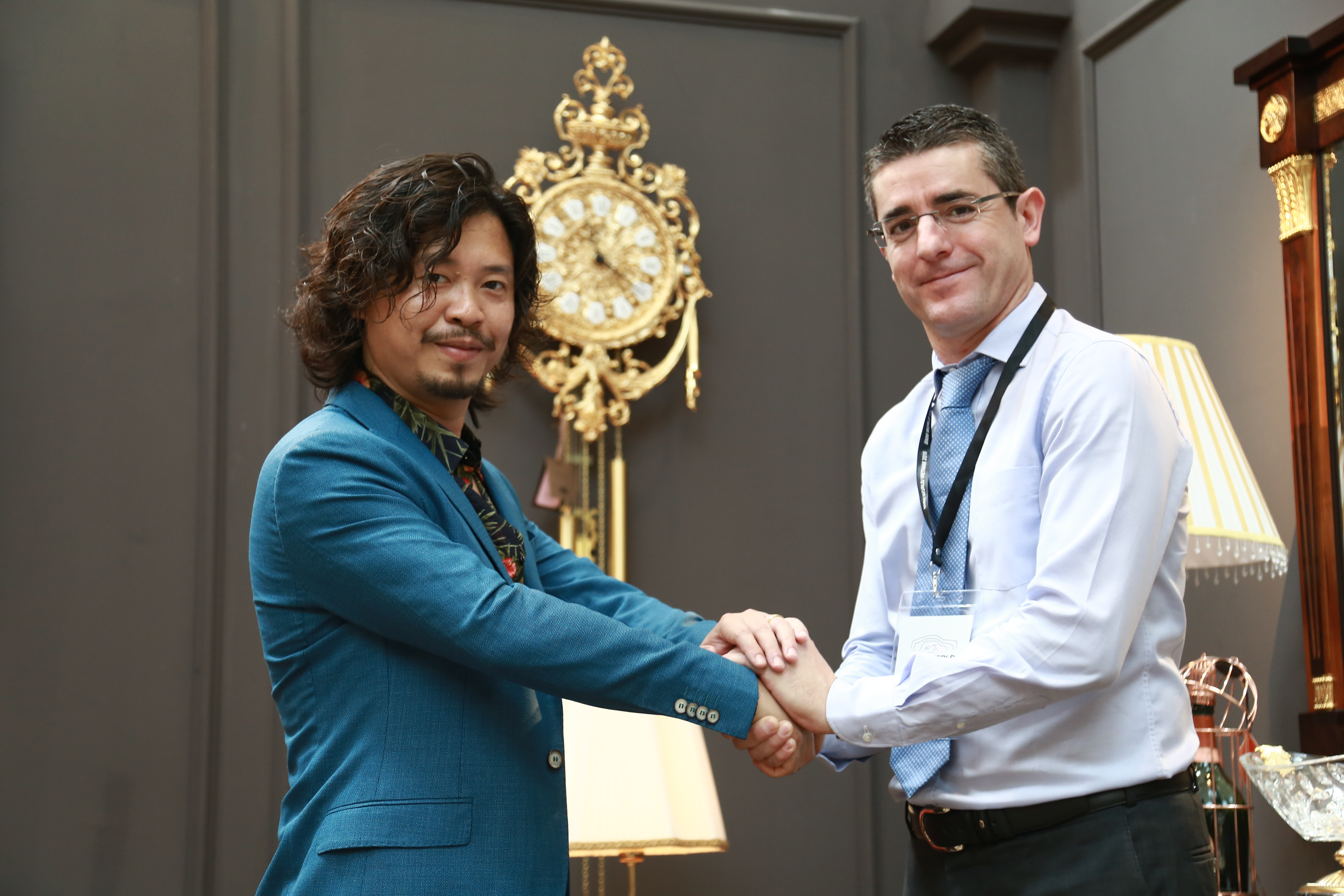 Chairman Hoang Minh Tuan with partner Luis Pardo - Soher Export Manager